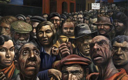 Trabajadores en huelga. Pintura de Antonio Berni